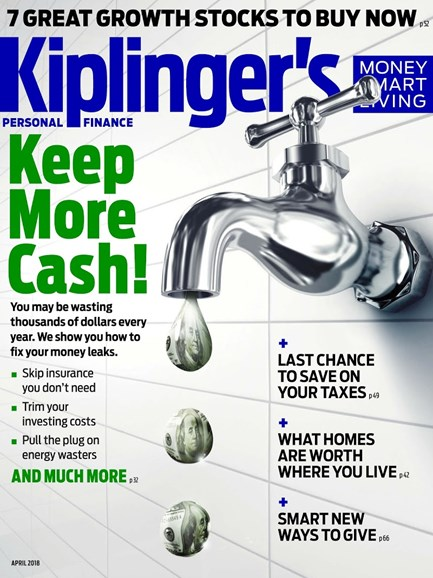 Kiplinger's Personal Finance Cover - 4/1/2018