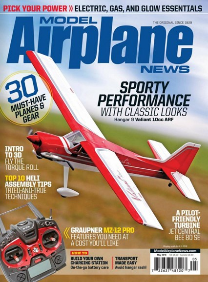 Model Airplane News Cover - 5/1/2018