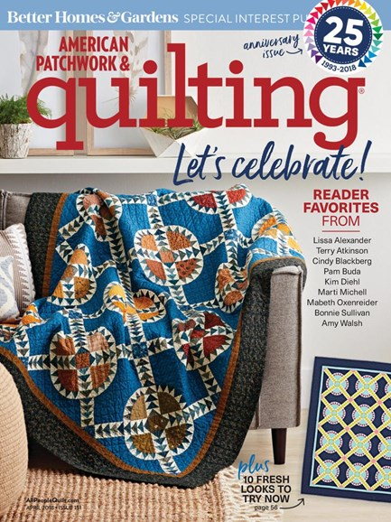 American Patchwork & Quilting Cover - 4/1/2018