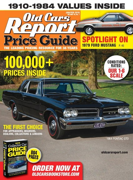 Old Cars Report Price Guide Cover - 1/1/2018