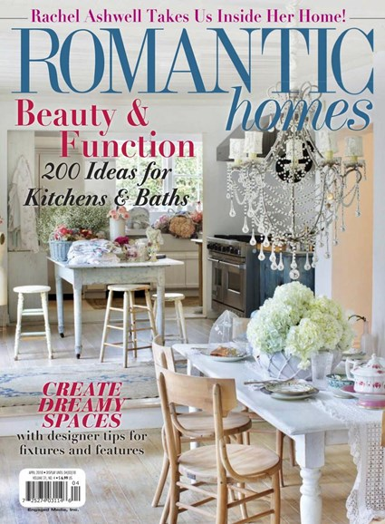 Romantic Homes Cover - 4/1/2018