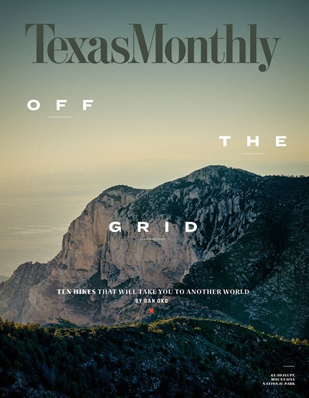 Texas Monthly Cover - 4/1/2018