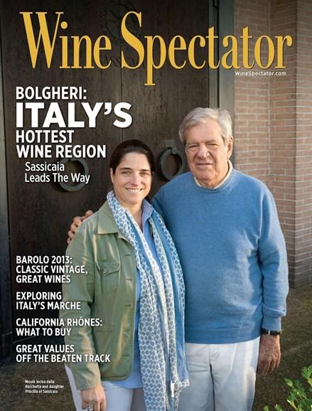 Wine Spectator Cover - 4/30/2018