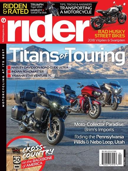 Rider Cover - 4/1/2018