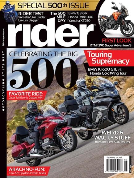Rider Cover - 5/1/2018