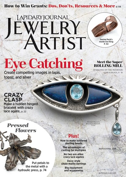 Lapidary Journal Jewelry Artist Cover - 3/1/2018