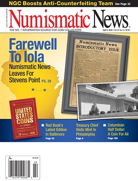Numismatic News Cover - 4/3/2018