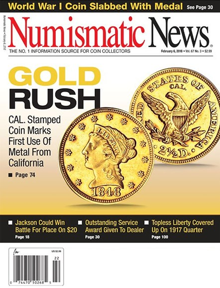 Numismatic News Cover - 2/6/2018