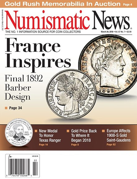 Numismatic News Cover - 3/20/2018