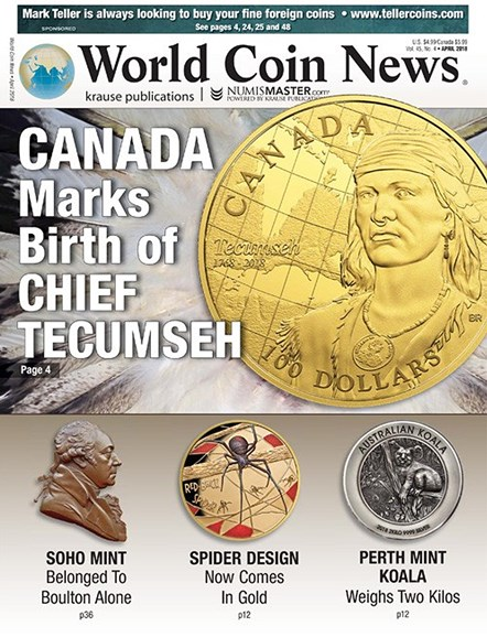 World Coin News Cover - 4/1/2018