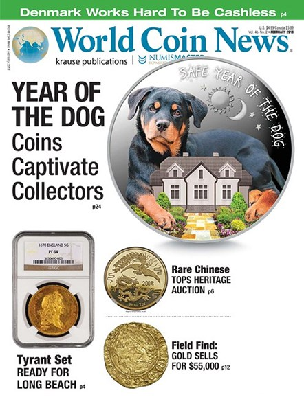 World Coin News Cover - 2/1/2018