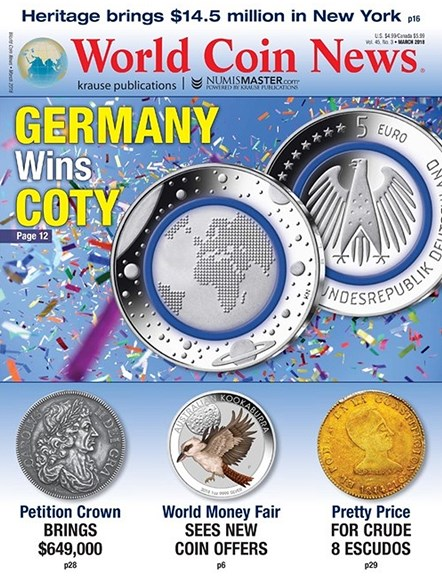 World Coin News Cover - 3/1/2018