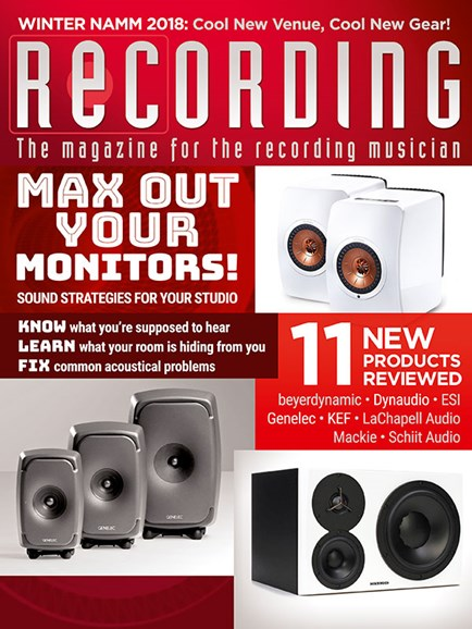 Recording Magazine Cover - 3/1/2018