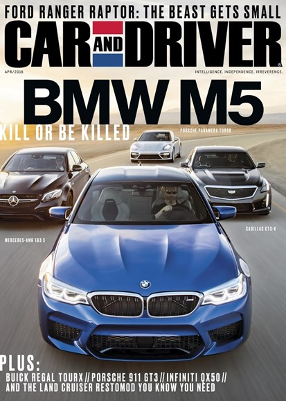 Car And Driver Cover - 4/1/2018