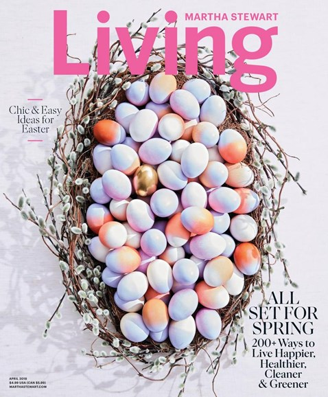 Martha Stewart Living Cover - 4/1/2018