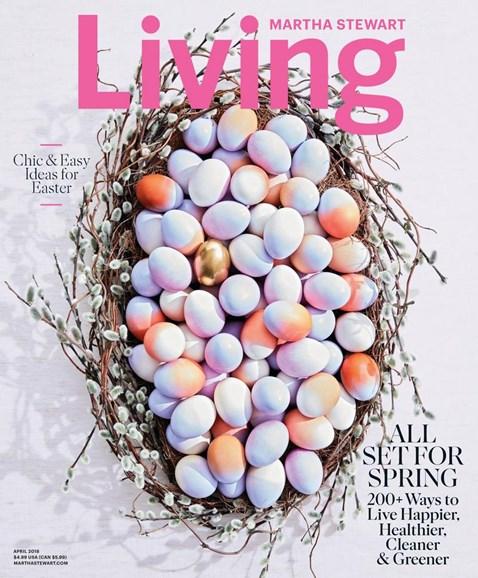 Martha Stewart Living Cover - 4/1/2018