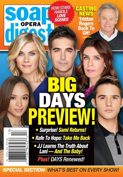 Soap Opera Digest Cover - 3/26/2018