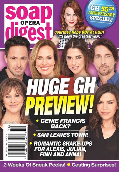 Soap Opera Digest Cover - 4/16/2018