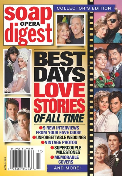 Soap Opera Digest Cover - 4/9/2018