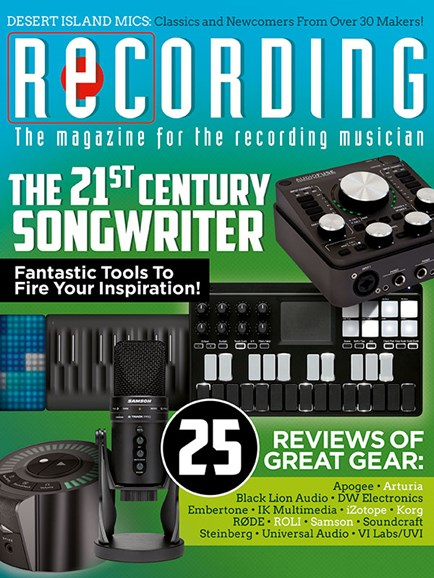 Recording Magazine Cover - 4/1/2018