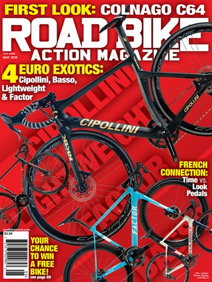 Road Bike Action Cover - 5/1/2018