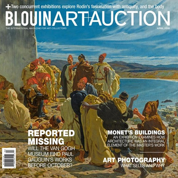 Blouin Art & Auction Cover - 4/1/2018