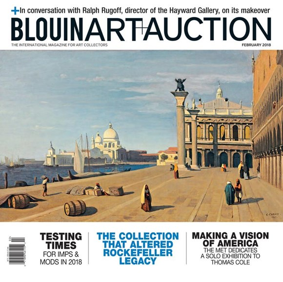 Blouin Art & Auction Cover - 2/1/2018