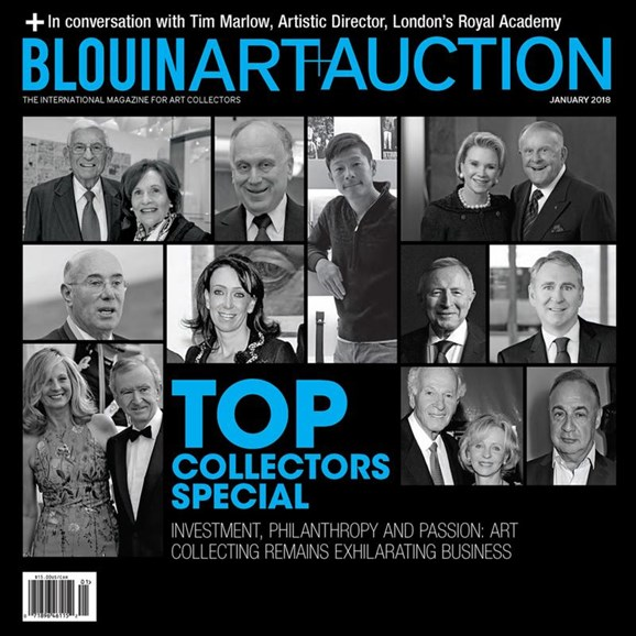 Blouin Art & Auction Cover - 1/1/2018