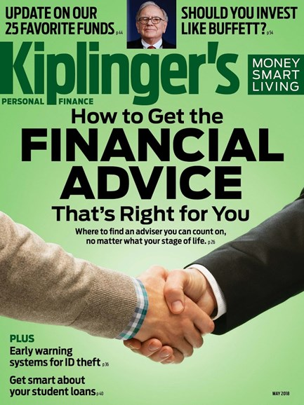 Kiplinger's Personal Finance Cover - 5/1/2018