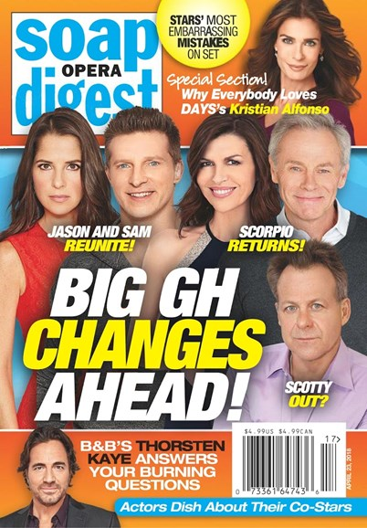 Soap Opera Digest Cover - 4/23/2018