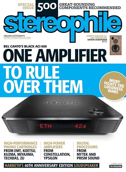 Stereophile Cover - 4/1/2018