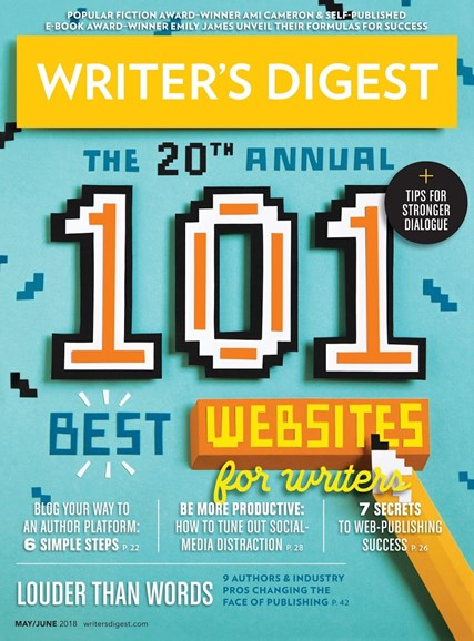 Writer's Digest Cover - 5/1/2018