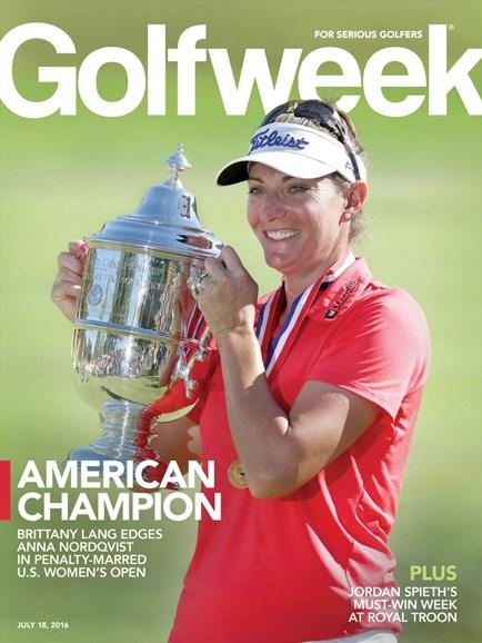 Golfweek Cover - 7/18/2016