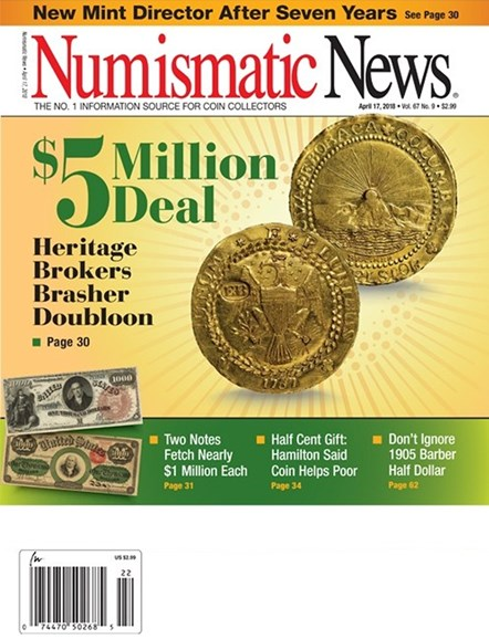 Numismatic News Cover - 4/17/2018