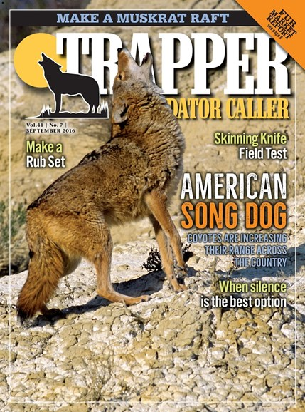 Trapper & Predator Caller Cover - 9/1/2016