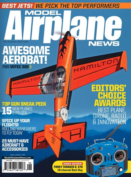 Model Airplane News Cover - 6/1/2018