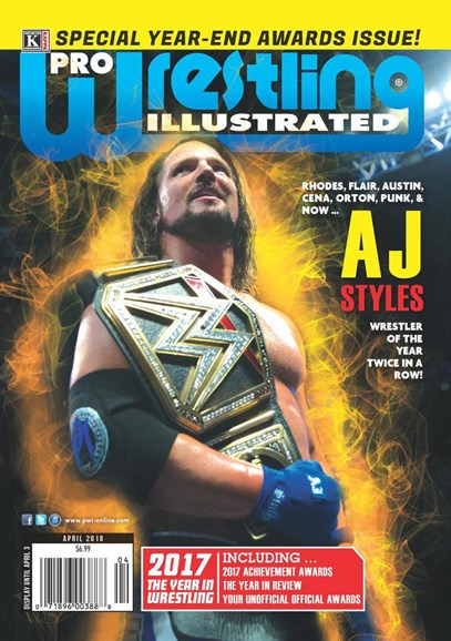 Pro Wrestling Illustrated Cover - 4/1/2018