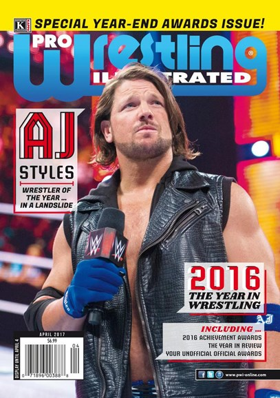 Pro Wrestling Illustrated Cover - 4/1/2017
