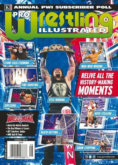 Pro Wrestling Illustrated Cover - 8/1/2016