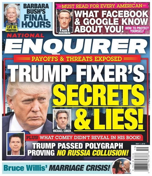 National Enquirer Cover - 5/7/2018