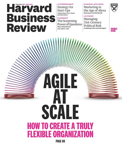 Harvard Business Review Cover - 5/1/2018