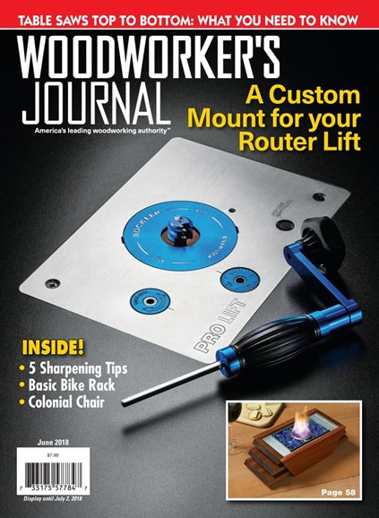 Woodworker's Journal Cover - 6/1/2018