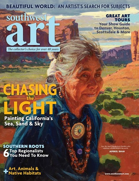 Southwest Art Cover - 4/1/2018