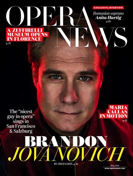 Opera News Cover - 5/1/2018