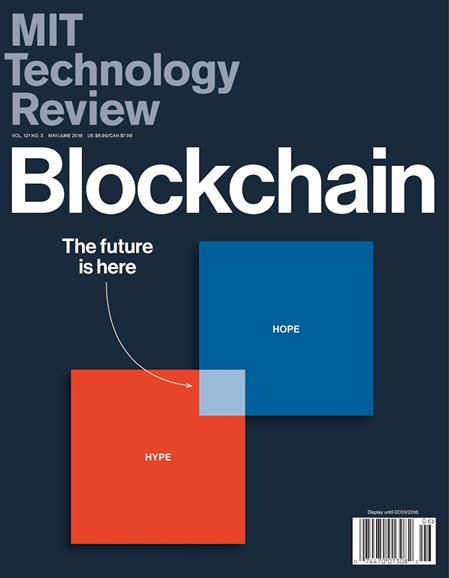 MIT Technology Review Cover - 5/1/2018