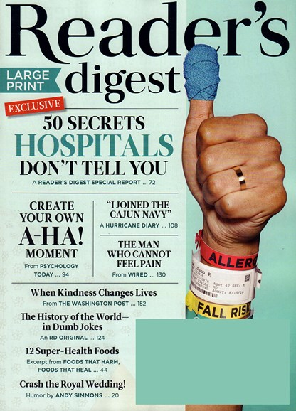 Reader's Digest - Large Print Edition Cover - 5/1/2018