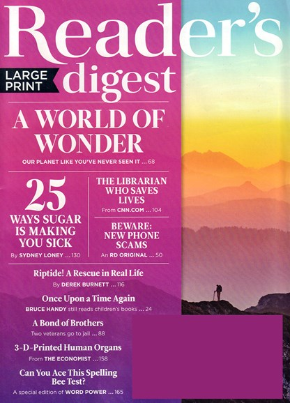 Reader's Digest - Large Print Edition Cover - 4/1/2018