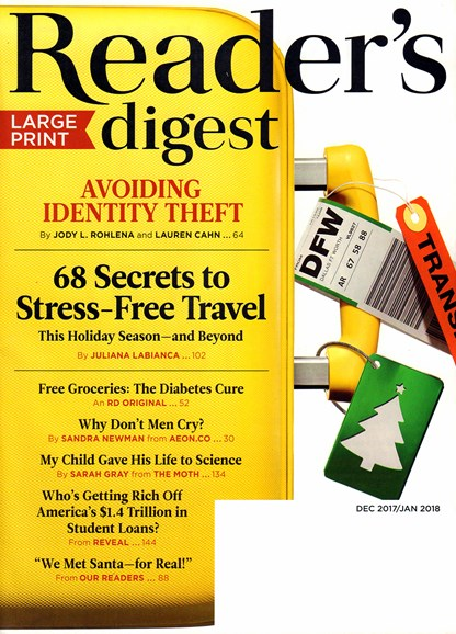 Reader's Digest - Large Print Edition Cover - 12/1/2017