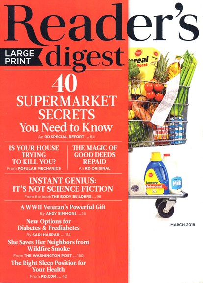Reader's Digest - Large Print Edition Cover - 3/1/2018
