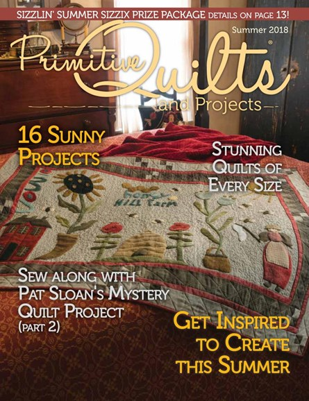 Primitive Quilts & Projects Cover - 6/1/2018
